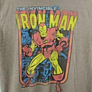 Marvel Comic Mens XL Brown Iron Man T Shirt Short